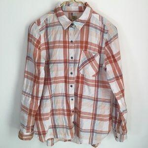TRUE CRAFT Plaid Button Down Shirt Size M